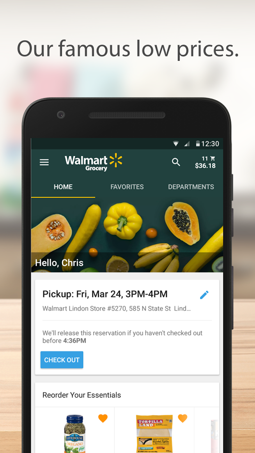 Walmart Grocery App – seit Ende April 2017 live.
