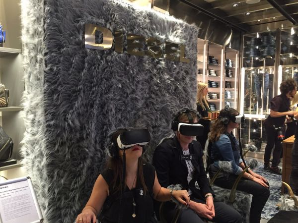 Virtual Reality im Diesel Store