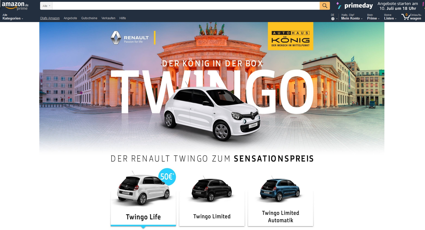 morning briefing renault h ndler verkauft twingo via amazon ebay notebooksbilliger dress for. Black Bedroom Furniture Sets. Home Design Ideas