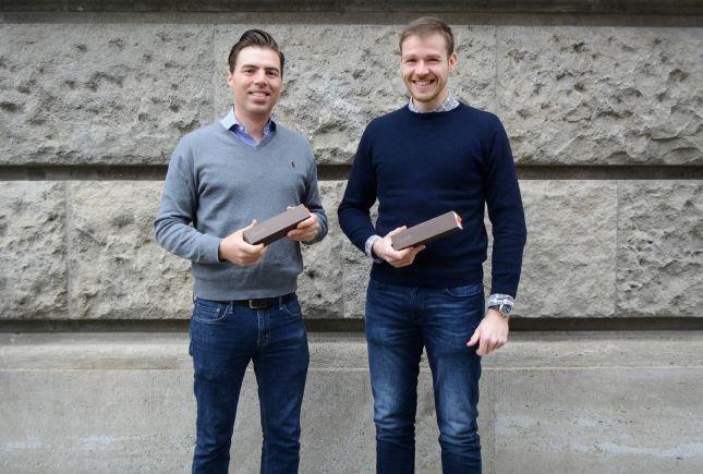 Dankebox-Gründer Alexander Hoyer (links) und Jan Krebs.