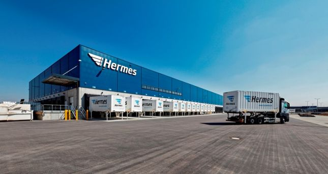 Hermes-Logistikzentrum in Bad Rappenau: Große Dockingstation für Lkw.