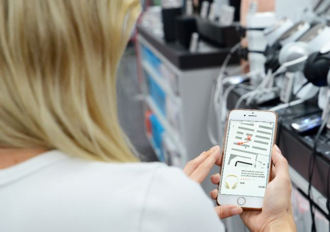 Durch den Laden per Smartphone: Instore Navigation von Media Markt