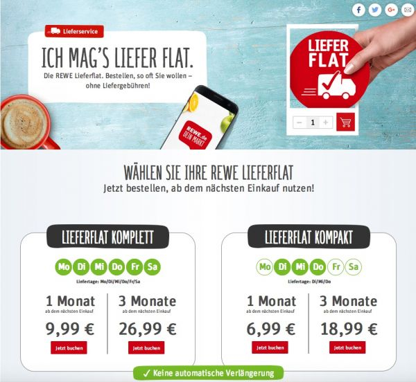 Rewe-Lieferflat