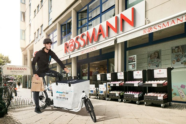 In Berlin kooperiert Amazon bei Prime Now mit Rossmann.