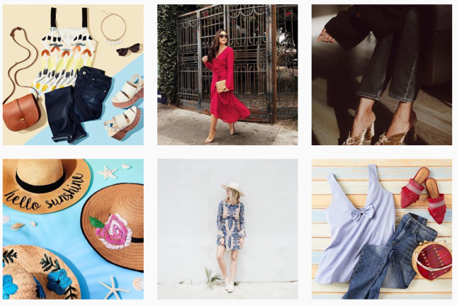 Amazon Fashion bei Instagram (Ausschnitt)
