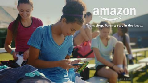 """Teens shop , parents stay in the know"" umwirbt Amazon sein neues Modell"