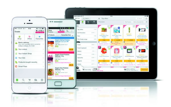 Mobile Touchpoints von Ocado